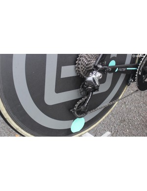 Ceramic Speed pulleys on the Factor bikes