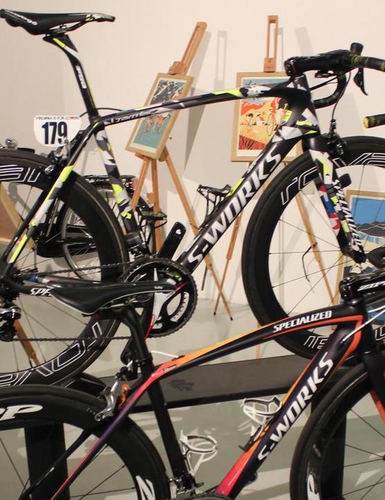 Specialized's 2015 World Champion winning bikes were on show