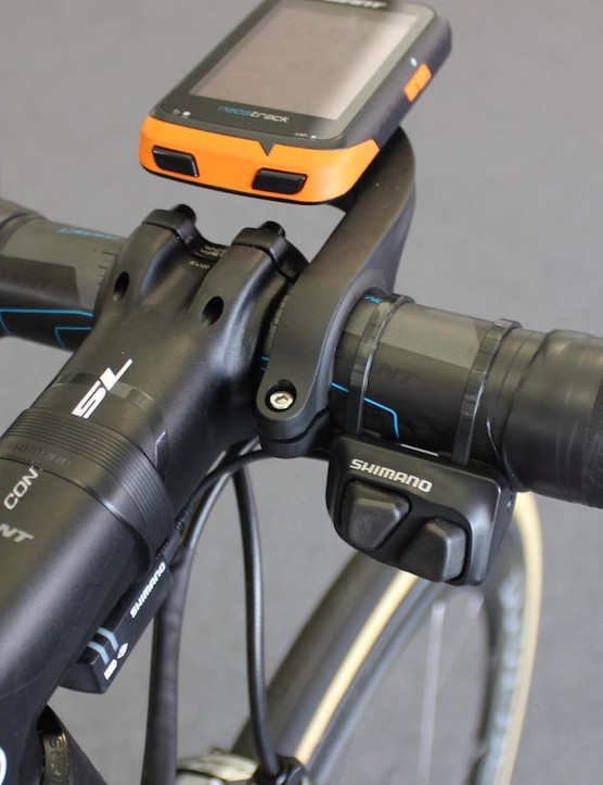 Shifters on the handlebar tops assist shifting while climbing