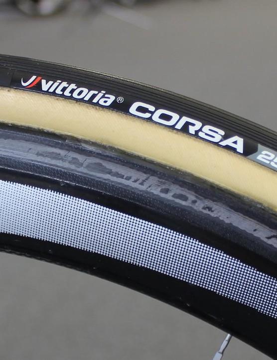 Vittoria Corsa tubular tyres