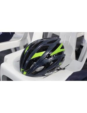 Movistar's new Abus helmet