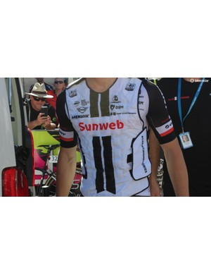Team Sunweb wore ice vests ahead of the sweltering first stage