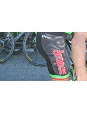 Cannondale-Drapac's new POC shorts have great breathability, but extra suncream is needed