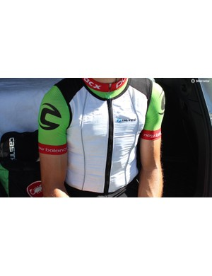 Cannondale-Drapac riders were also wearing ice vests in the 40+ Celsius heat