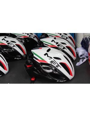 UAE Abu Dhabi's MET Manta helmets
