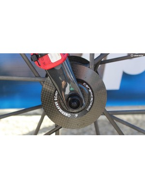 The wheels are fitted with CeramicSpeed bearings in the hub