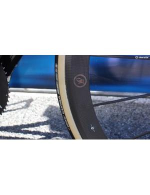 Meyer pairs the wheels with Vittoria Corsa tubular tyres