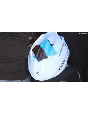 AG2R-La Mondial's Ekoi Corsa helmet with the aero shell
