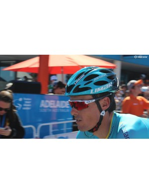 Luis Leon Sanchez, a former Tour Down Under winner, wears Oakley Radar EV sunglasses