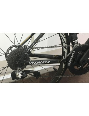 An 11-30 SRAM Red cassette was used for the hilly course