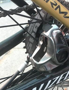 A look at the rear brake caliper