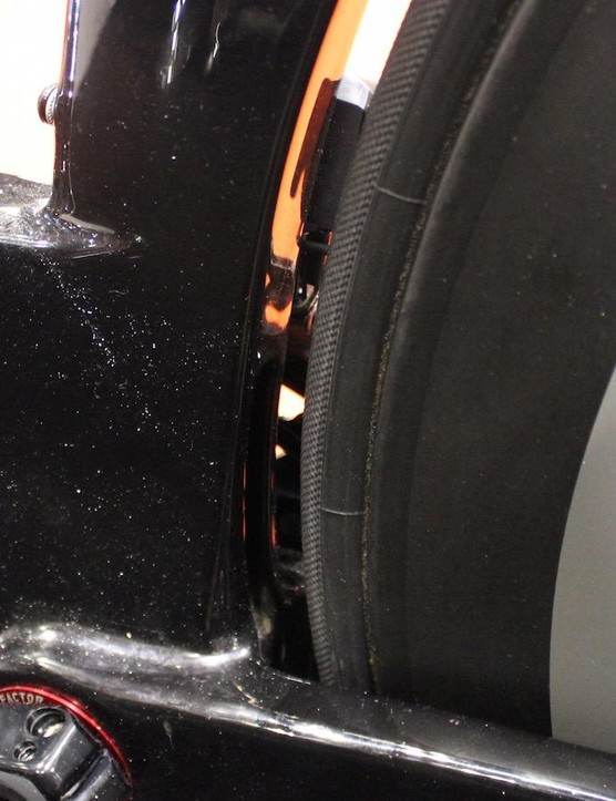The frame allows up to 28mm tyre width