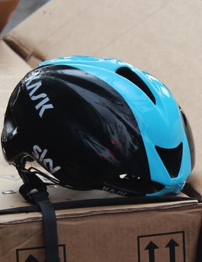 The helmet retains its larger central vents, while losing six of the eight wider placed vents