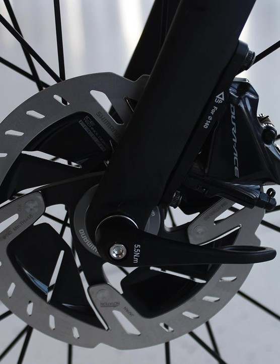 Shimano road discs aren't new — but Dura-Ace-branded rotors and calipers definitely are