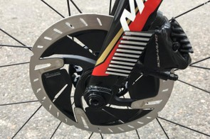 The overriding trend for disc brakes in the WorldTour peloton is 160mm rotors at the front and 140mm at the rear