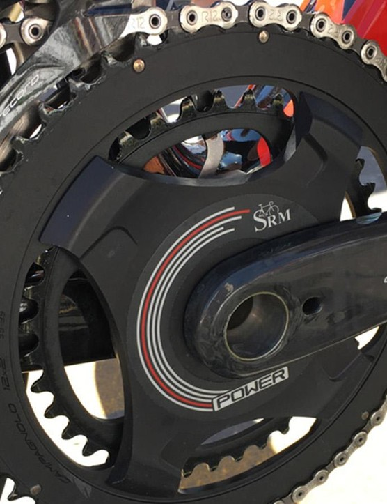 The slick looking Lotto Soudal SRM power meter
