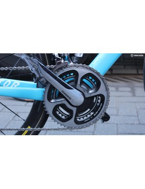 Naesen's Factor is equipped with Dura-Ace cranks with a SRM powermeter
