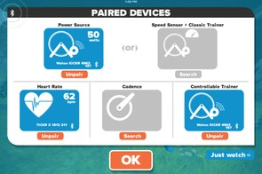 Pairing power meters, heart rate monitors and cadence sensors is very easy via Bluetooth on the beta mobile version