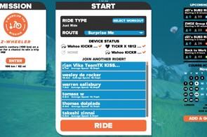 For the mobile version, the start screen looks like the desktop version