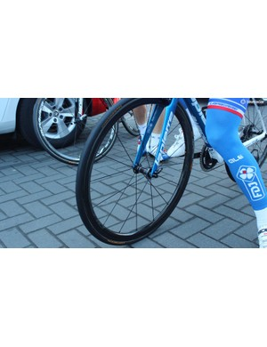 Former Milan-San Remo winner Arnaud Demare was equipped with new Shimano Dura-Ace 9100 wheels