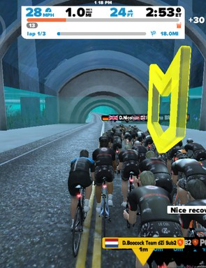 The ride leader is indicated by the yellow icon. Most rides are arranged by watts per kilo, which normalizes effort for all riders