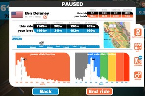 When you stop pedaling for a while, this screen pops up