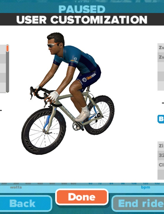 The more you ride on Zwift, the more you are able to customize your avatar