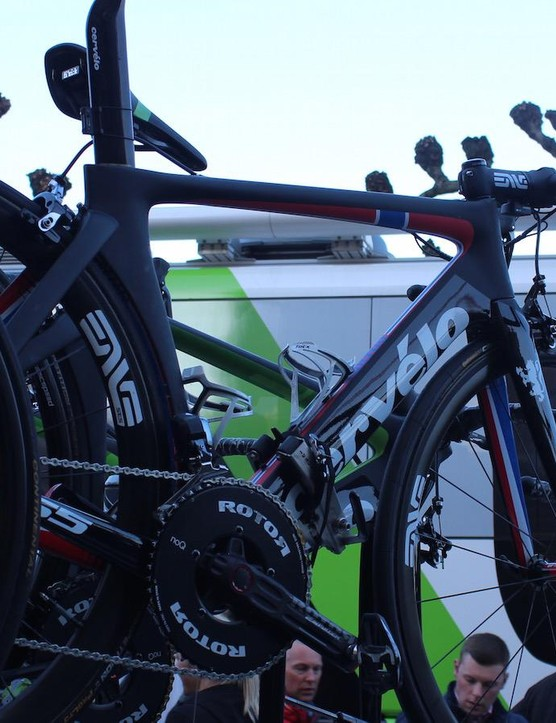 The Norwegian's spare bike for Flanders was a custom painted Cervelo S5