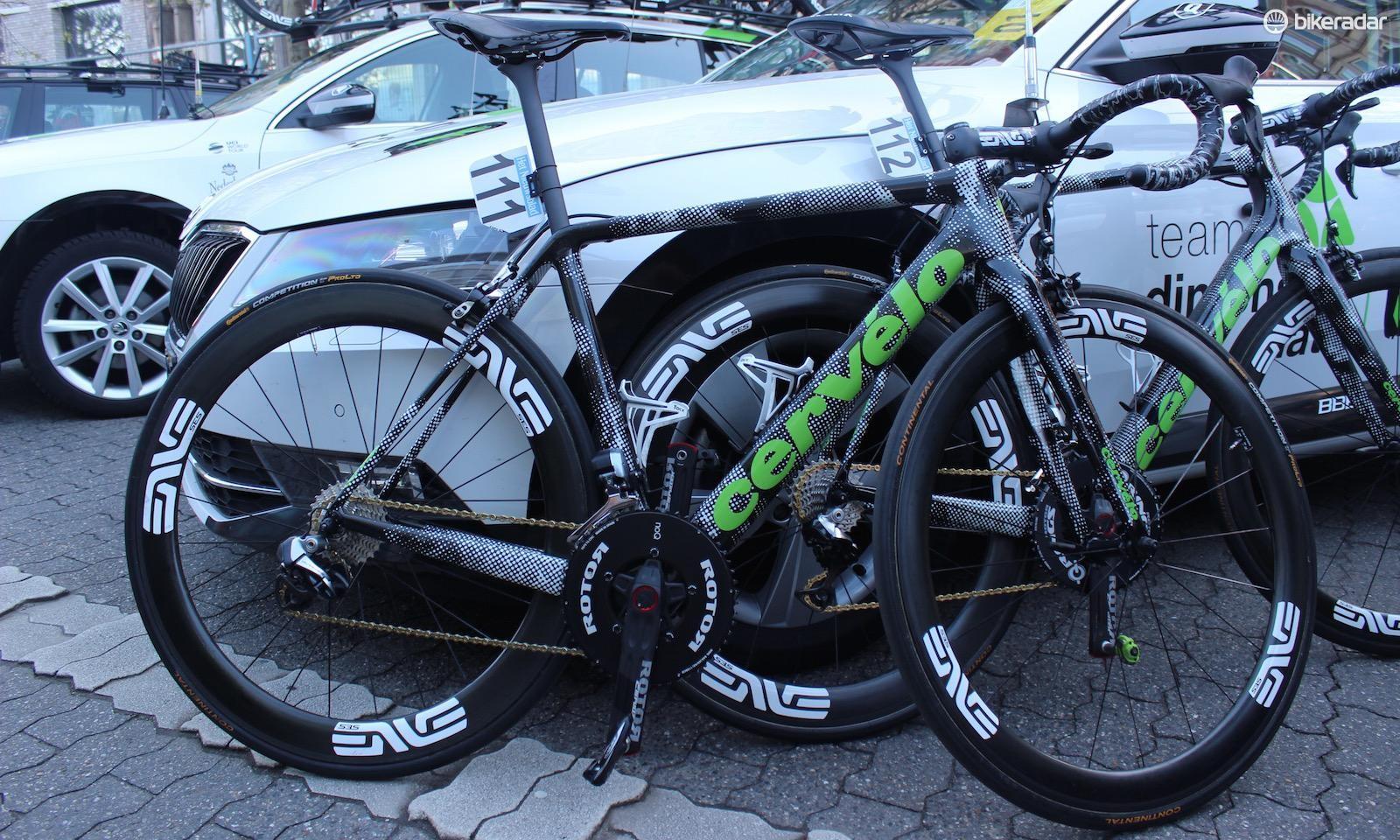Edvald Boasson-Hagen's Cervelo R5 for the Tour of Flanders 2017