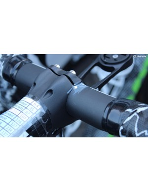 The ENVE SES aero handlebars are marked for ease of setup