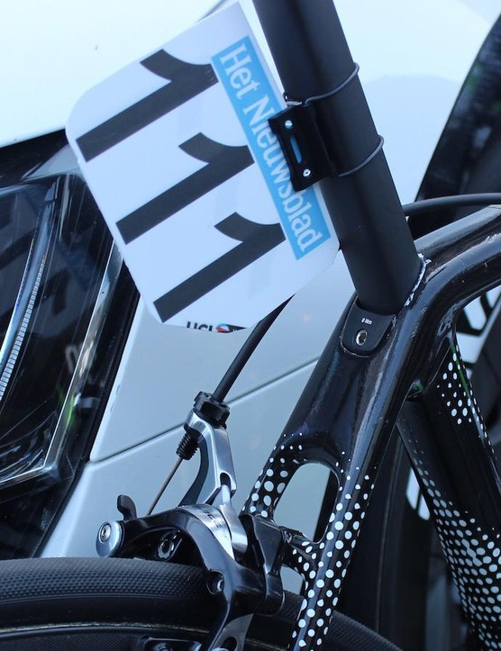 The unique wrap on the new Cervelo R5 was first seen at the Dubai Tour earlier in the year