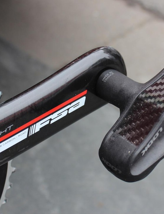 Cofidis' team bikes are equipped with Look pedals
