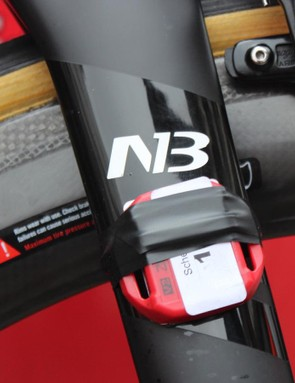 Initials on the forks and Campagnolo carbon brake pads