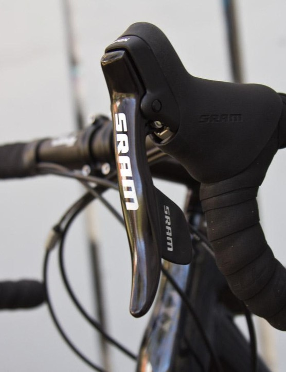 SRAM's Apex group is on the lower end of the brand's range but performed flawlessly