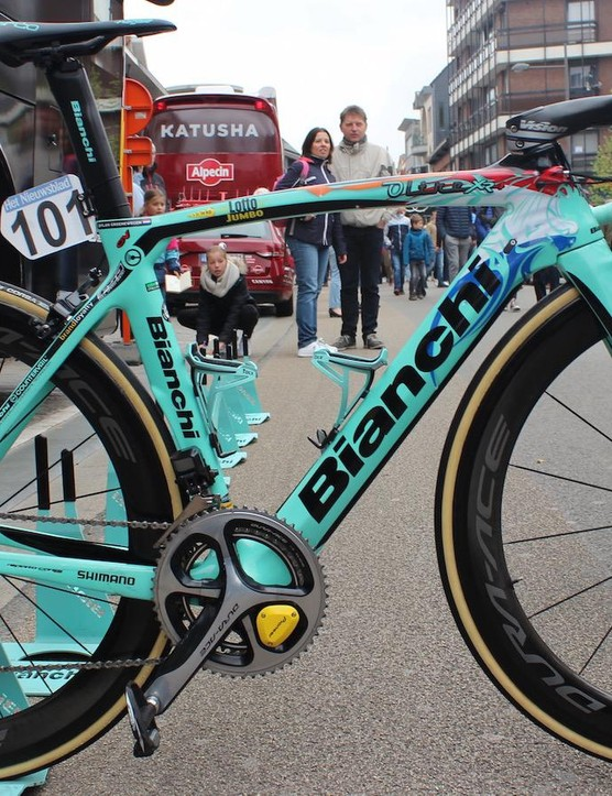 Dylan Groenewegen's custom Bianchi Oltre XR4