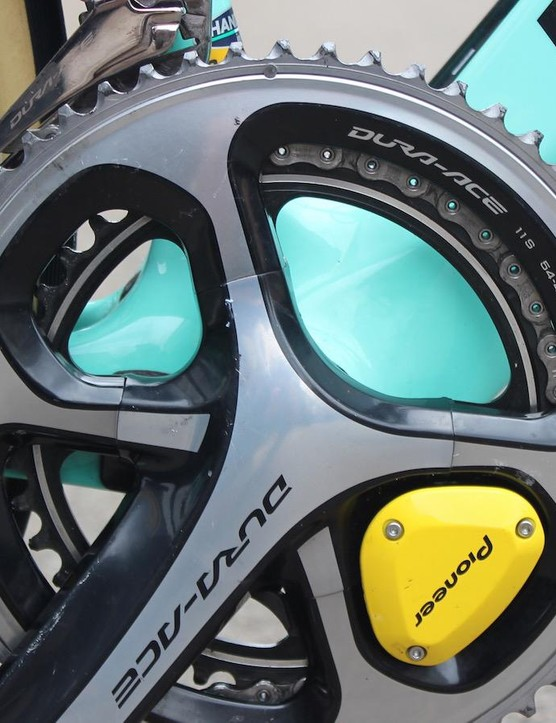 Groenewegen used a bigger than usual chainring combination of 54/42 for the flat Classics