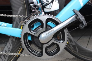 The bike is equipped with a SRM powermeter
