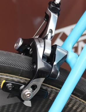 A closer look at the Shimano Dura-Ace rear brake