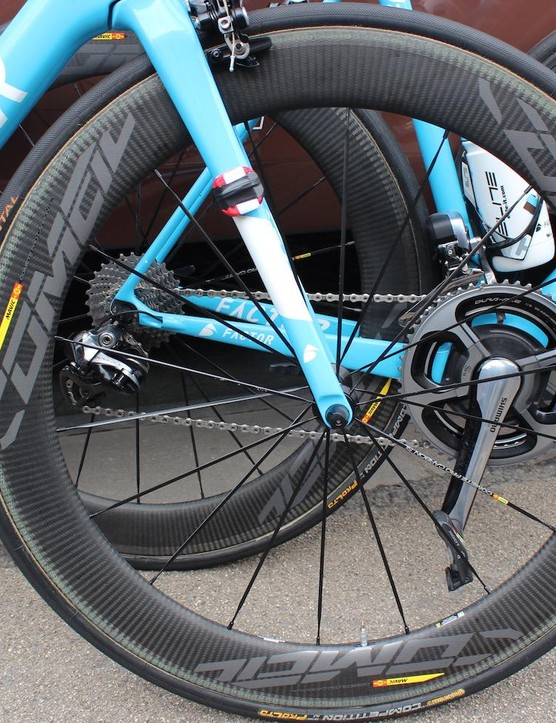 Oliver Naesen and his AG2R-La Mondiale teammates raced the new wheels at Scheldeprijs
