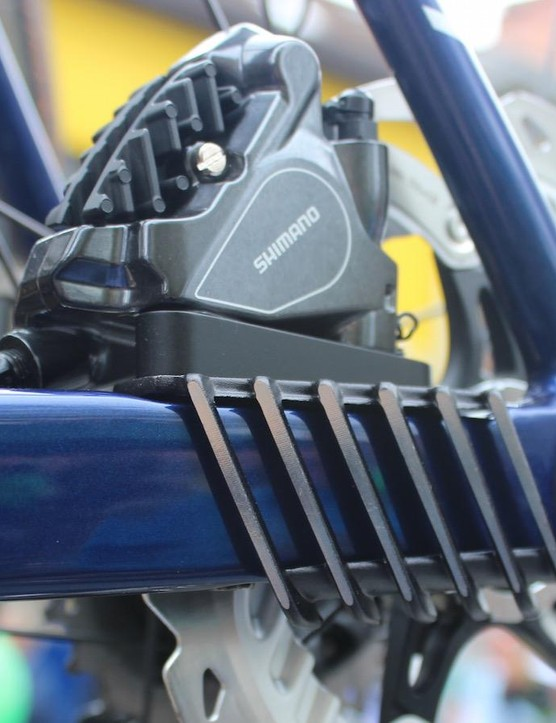Merida has developed cooling fins to prevent the discs overheating