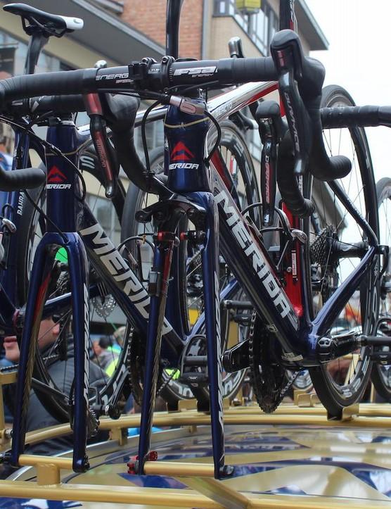 Only one rider on the Bahrain-Merida team rode Scheldeprijs with regular rim brakes