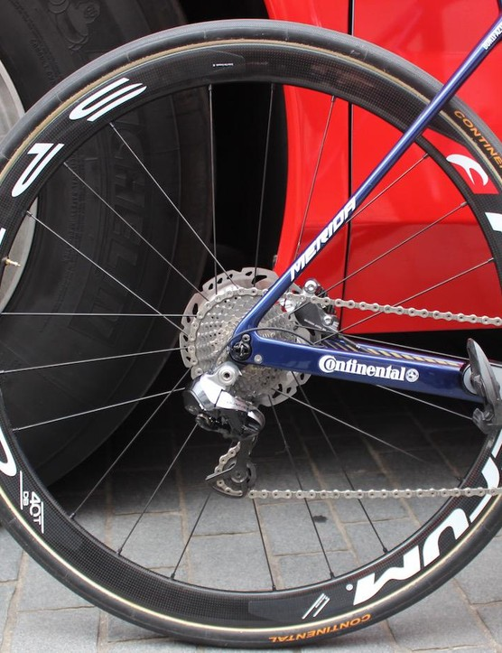 The Fulcrum 40mm aero wheels are available in either rim or disc version