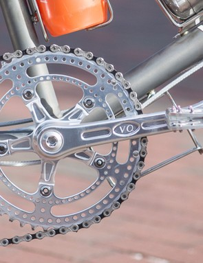 The build wouldn't be complete without VO's Grand Cru Drillium cranks