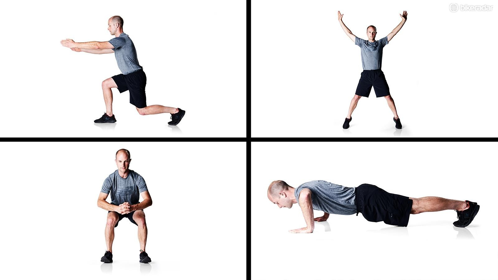 Quick exercises for improving strength for mountain biking
