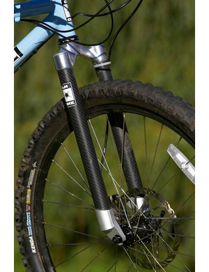 Rigid carbon forks dampen trail vibrations surprisingly well, but pay attention to your choice of li