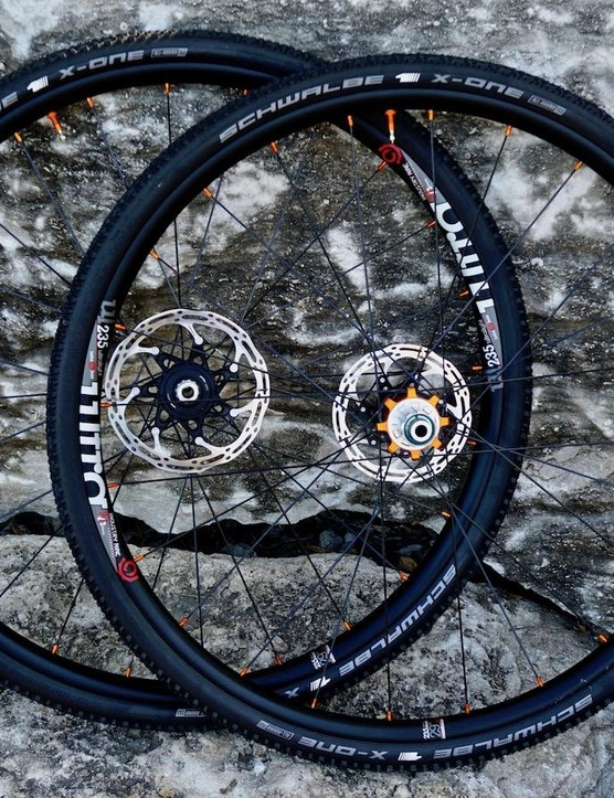 Industry Nine's Ultralight 235 Disc wheelset comes in at a whopping 1,385g and is road, gravel, CX and monster-cross ready