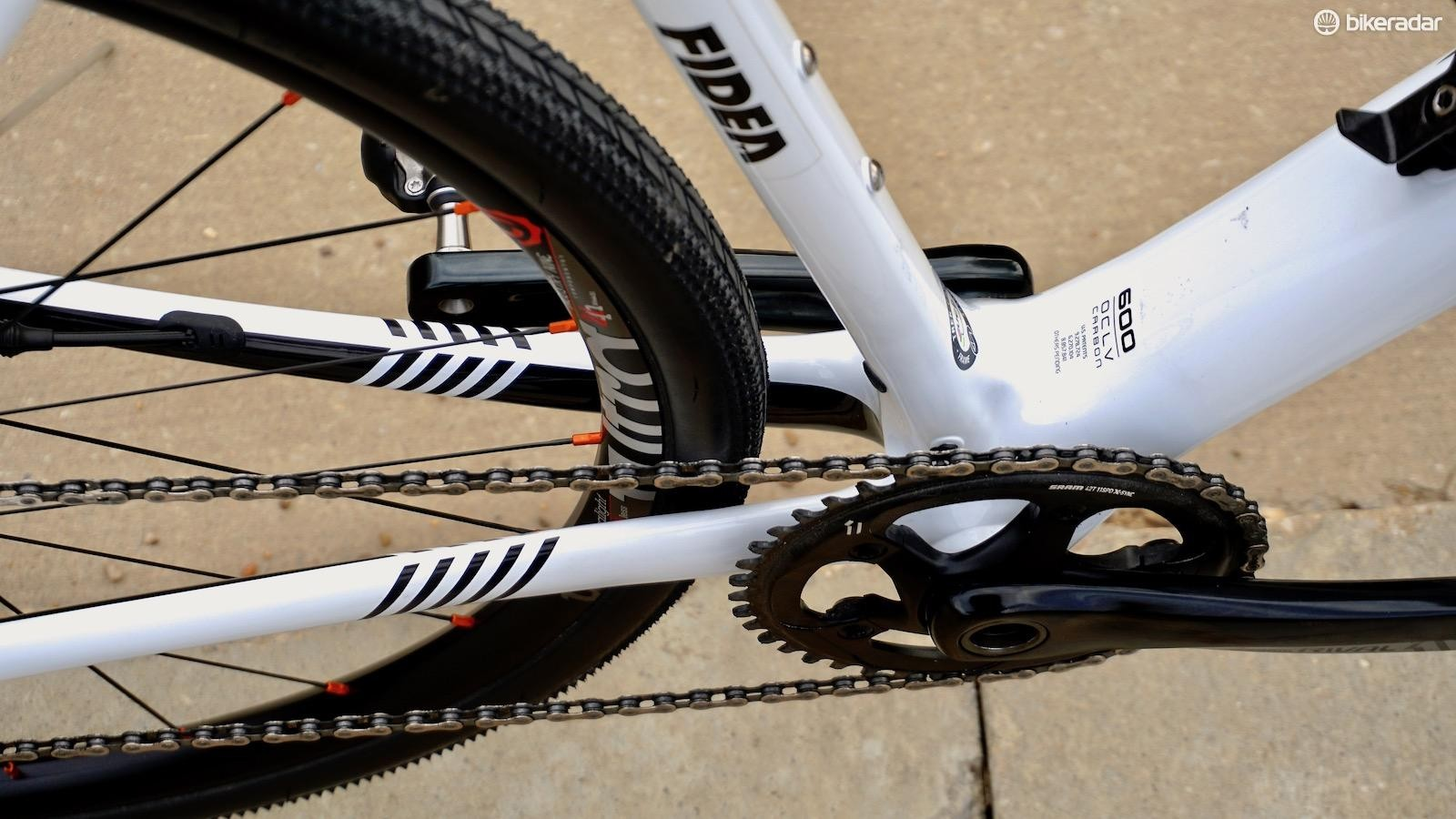 The ULCX rim pushed labeled 35mm wide tires out to 36.8 — make sure there's room