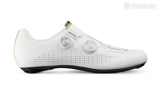 Fizik's custom Infinito R1 Iride shoes for world champion Alejandro Valverde