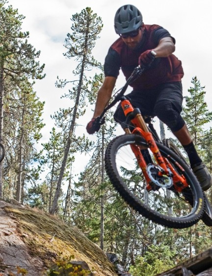 Rocky Mountain pro riders Thomas Vanderham and Geoff Gulevich spent time honing the new Instinct's ride