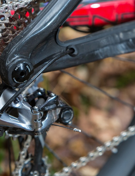 SRAM provides single ring gearing on all models